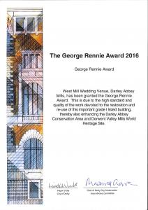 ctd architects George Rennie Award cert 2016