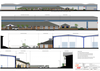ctd architect KMF Group new canteen and staff facilities elevations as proposed