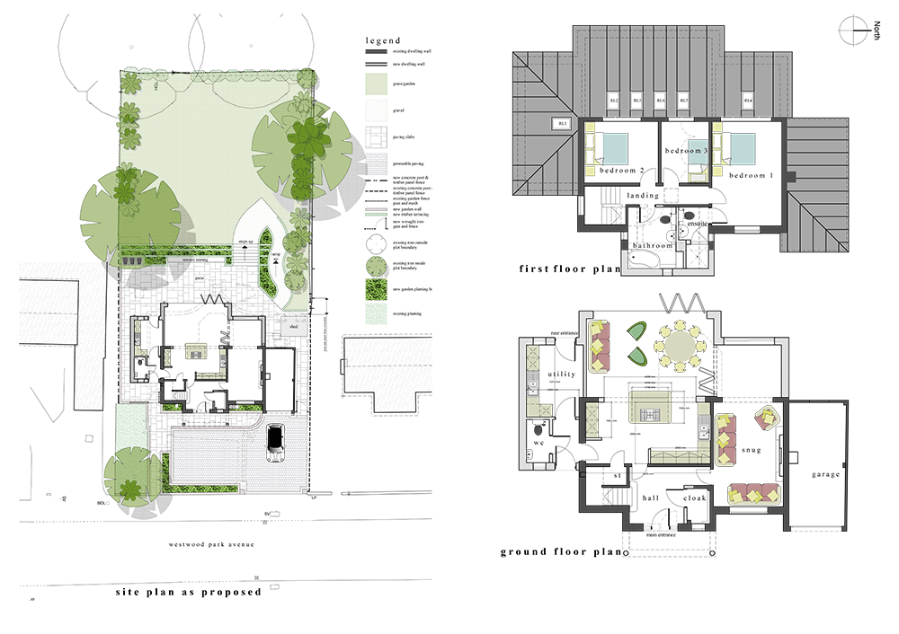 Residential development and extension in leek for Site floor plan