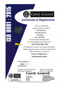 ctd architects ISO 9001:2015 certification