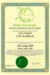 ctd architects award certificate